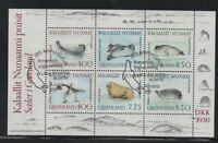 Greenland Sc 238a 1991 Walrus & Seal stamp sheet used Free Shipping
