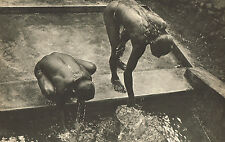 Vintage Lionel Wendt Asian Nude Washing At Well Photogravure Photo Print