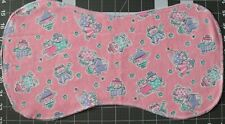 New Flannel Burp Cloths Large Soft Double Layer Handmade Pink Purple Skating