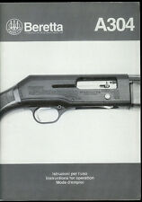 1995 Beretta  A 304 Semi-Auto Shotgun Vintage Original Factory Owner's Manual