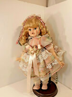 "CAMELOT COLLECTION PORCELAIN DOLL ""MEGAN"" 16 IN VICTORIAN VINTAGE   DT10"