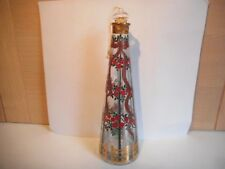 UNUSUAL RED ROSES AND RIBBON CHRISTMAS ADVENT CANDLE GLASS OIL CANDLE