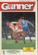 Football Programme - Arsenal v Manchester United - FA Cup - 20/2/1988