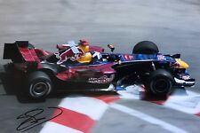 David Coulthard Firmato a Mano RED BULL RACING 18x12 foto 6.