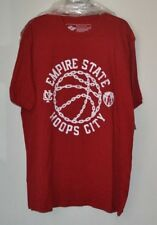 """NWT Athletech Dri """"Empire State Hoops City"""" T-shirt, XL, Basketball, Red/White"""