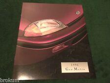 NEW 1996 GEO METRO 22 PAGE DEALER SALES BROCHURE ORIGINAL (BOX 592)