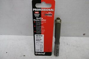 """TREND PROFESSIONAL 46/210 TCT 1/2"""" GUIDED TRIMMER ROUTER CUTTER BIT 1/2"""" SHANK"""