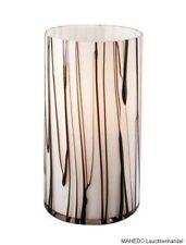 Tischlampe Esoterik Lampe Leuchte massive E14 Glas Schwarz Weiß Mystisch Mystik