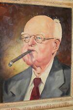 "Original GIB CROCKETT PAINTING, Portrait of ""Mr. Standard"" of the ""STAR"" Newspap"