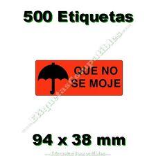 """1 Rollo de 500 Etiquetas Adhesivas """"Que no se moje"""" de 94 x 38 mm Alta Calidad"""