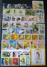 Worldwide Birds Stamp Collection MNH - 15 Full Sets from 15 Different Countries