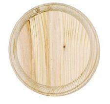 """NEW Darice #9179-60 Unfinished 5"""" Round Wood Plaques Bases--Unblemished Firsts"""