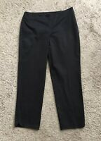 TALBOTS Womens Size 4 Black Cropped Capri Side Zip Heritage Cotton Blend Pants
