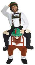 Lederhosen Piggyback Adult Costume Oktoberfest Halloween Beer Stein Morph Suits