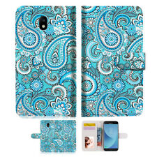 Seamless Pattern With Paisle Wallet Case Cover for Samsung Galaxy J5 Prime- A022