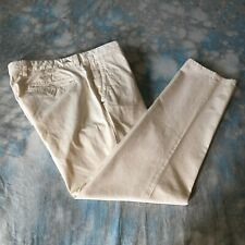 Tommy Bahama 34x30 Beige Flat Flly Front Chino Men's Pants