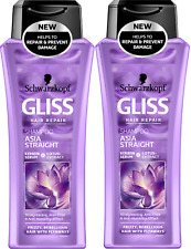 2-pack Schwarzkopf Gliss ASIA STRAIGHT Shampoo 250ml with Lotus Extract