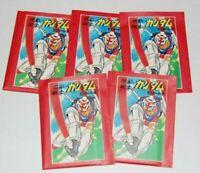 Original Mobile Suit Gundam Vintage Japanese Trading Cards Pack Lot (5) NEW!