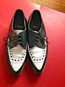 Underground Originals Platform Creepers Black & White Shoes Size 7