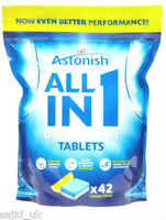 Astonish 5-in-1 Lemon Dishwasher Tablets with Salt & Rinse Aid - 42 Tablets