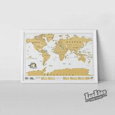 Luckies of London Scratch Original Personalized World Map