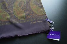 RALPH LAUREN PURPLE LABEL Paisley 100% SILK Scarf MADE IN Italy RETAIL: $295 NWT