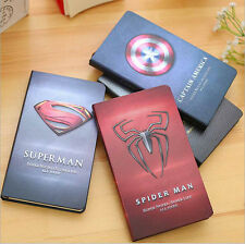 """Super Hero"" Hard Cover Notebook Ruled Diary Journal Planner Note Book Pad Memo"