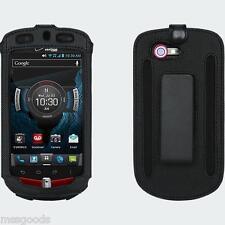 OEM Verizon Casio G'zOne Commando 4G LTE C811 Fitted Leather Case w/ Swivel Clip
