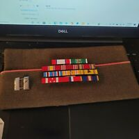 WW2 Army Capt. Artillery's Officer Garrison Hat With 11 Ribbon WW2 Ribbon Rack