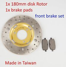 Front Brake Disk rotor & Pads for Yamaha BWS 100 YW100 Zuma 50 YW50 moped  US