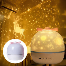 360 Rotation Starry Sky LED Night Light Projector Kids Bedroom Lighting