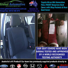 Toyota HiLux Front and Rear Neoprene Seat Covers - Workmate, SR, SR5 8th Gen N80