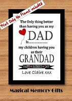 Fathers day dad daddy grandad father gramps personalised love print gift a4