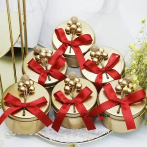 Tinplate Candy Storage Boxes Wedding Engagement Anniversary Gift Box Supply Tool