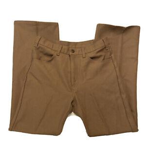 Vtg 1980 Levis Black Gold Tab Retro Polyester Pants 32x30 Light Brown