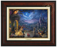 Thomas Kinkade Studios Beauty and the Beast Dancing 12x16 Canvas Framed Classic
