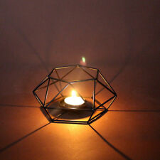 Geometric Iron Hollow Candle Holder Tealight Candlestick Hanging Lantern Healthy
