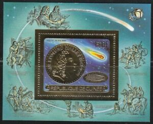 Guinea 1986 Souvenir Sheet Mi Block 220A (1113A) Halley's Comet 1500Fr value **