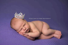 Purple Diamante Mini Rhinestone Crown Tiara Unisex Baby's 1s Birthday Party Gift