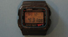 Casio Lithium W - 48B Water Resist 50M Missing Alarm Spring No Band 1985 Vintage