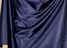 dunkel-blau Satin Deko-Stoff Gardine Vorhang Meterware Tolko