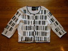 MICHAEL SIMON RARE BAR CODE BARCODE SCAN TECHIE SWEATER MINI SPARKLING SEQUINS M