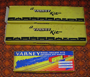 VARNEY MODEL RAILWAY KIT BOXES ONLY  LOT OF THREE BOXES  F-9 FLAT AND F-3 DUMMY