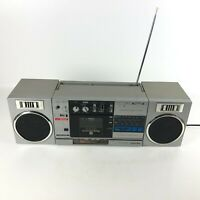 Toshiba RT-SX2 Boombox AM FM Radio Cassette Player Detachable Stereo Speakers