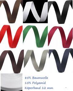 Köperband Nahtband Wäschband 10-50 mm 3-8 Meter Köper Baumwoll-Polyamidgemisch