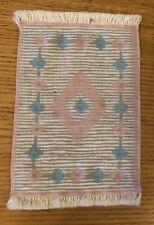 Vintage LUNDBY Dollhouse Rug (faux) Lovely Pink Design