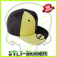 New Era NE400 Noir Snapback Flat Bill Hat//Cap Avec Rose//blanc drapeau américain