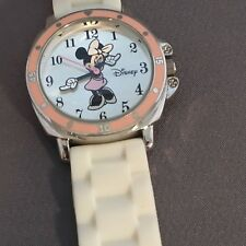 Disney Minnie Mouse Ladies Watch Silicone Band Pink Dial New Battery