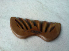 T14-1 QiaoYaTou Flowers Carve Pattern Old Peach Wooden Comb Health Care Comb