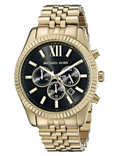 Michael Kors Lexington Gold Tone Black Dial MK8286 Steel Watch for Men